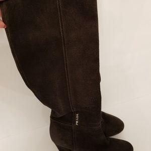 Prada Suede knee high boots Size 35